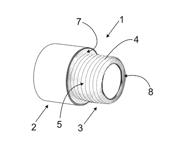 Threaded insert for connections of tubes and accessories for liquid and  gaseous fluids in general