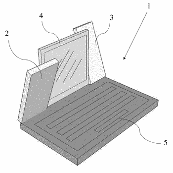 Auxiliary attachments parallel to the display screen of a portable electronic device