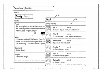 Providing an application specific extended search capability