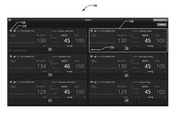User interface for configurably displaying real-time data for multiple patients