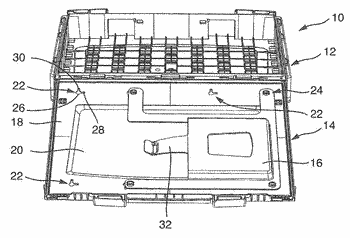 Case for accommodating tools or small parts
