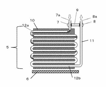 Evaporators, methods for defrosting an evaporator, and cooling apparatuses using the evaporator