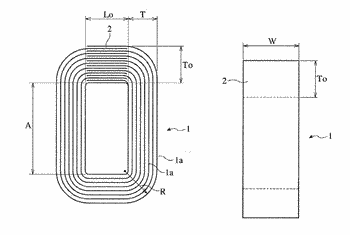 Fe-si-b-c-based amorphous alloy ribbon and transformer core formed thereby