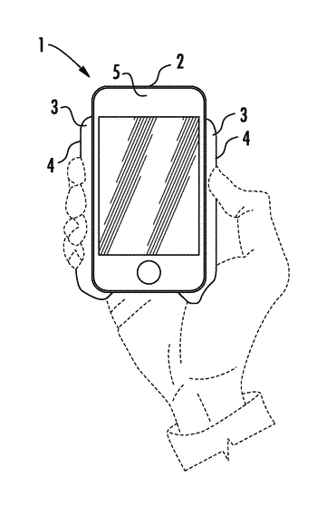 Ergonomic accessory for smartphones and other hand-held portable electronic devices