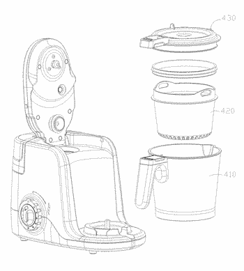 Rapid food cooking device and rapid cooking method therefor