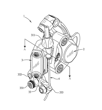 Cable positioning structure for hydraulic brake of bicycle