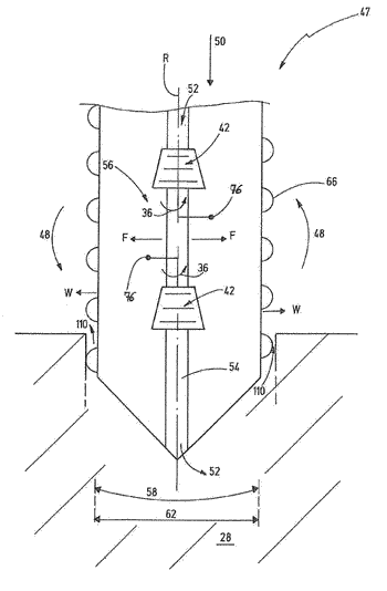 Methods and devices for improving the subsoil