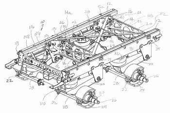 Air spring actuated slider for semi-trailer