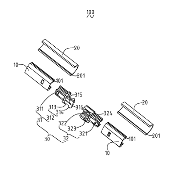 Assemble mechanism of led lamp and disassembling method thereof
