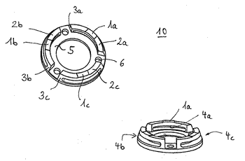 Compensation device and clamping device for workpieces equipped with a compensation device of this type