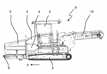 Road paver or feeder with material retention device with overload protection, material retention device, and ...