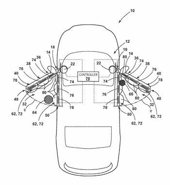 Seal based object detection for vehicle door assist system