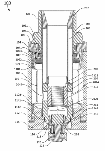 Vaporizers having top air intake and electronic cigarette having the same
