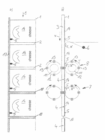 Method for separating portions of a food mass