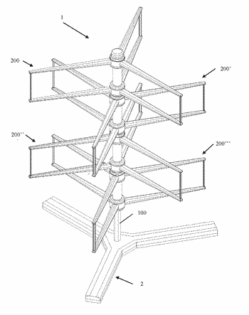 Vertical axis wind turbine system with one or more independent electric power generation units