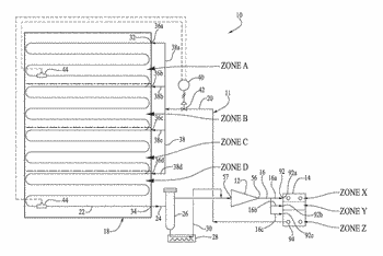 Refrigeration system with separate feedstreams to multiple evaporator zones