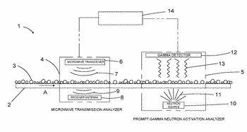 System and method for real time on-stream analysis of oil sands composition