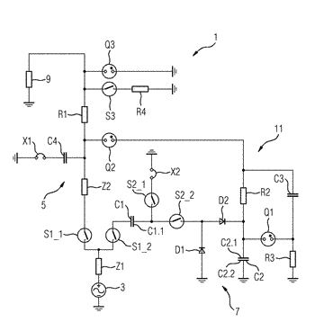 Circuit arrangement for high-voltage tests and high-voltage testing system
