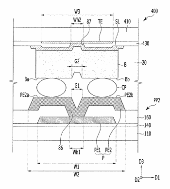 Display device having a connection member secured in place by a conductive layer
