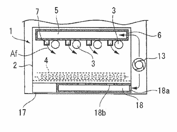 Powder collecting device and processing apparatus including the same