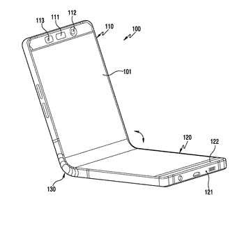 Foldable electronic device including flexible display
