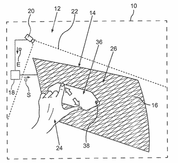 Method for operating an interactive visibility screen, a pane device and a motor vehicle