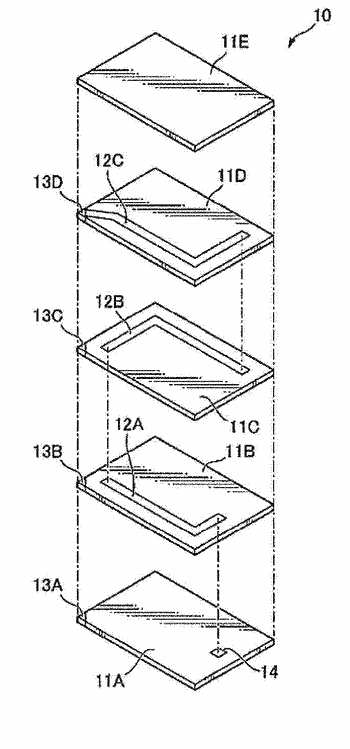 Laminated electronic component