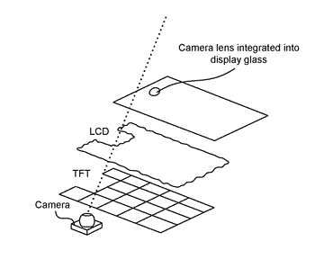 Image capture with a camera integrated display