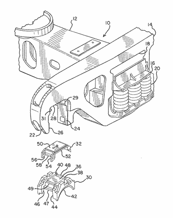 Railway truck with improved bearing adapter