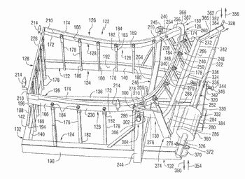 Bending device for shaping glass for use in aircraft transparencies