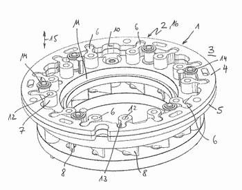 Adjustment ring of a variable turbine geometry