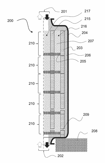 Container for a system for storing and restoring heat, comprising a double wall formed from ...