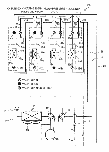 Cooling/heating switching unit and air conditioner including the same