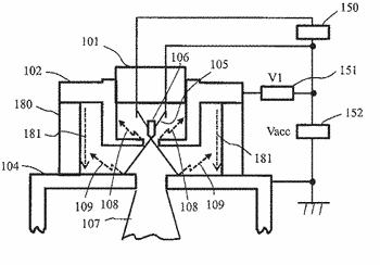 Charged particle beam device, and method of manufacturing component for charged particle beam device
