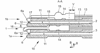 Fuel cell having a projecting bipolar plate