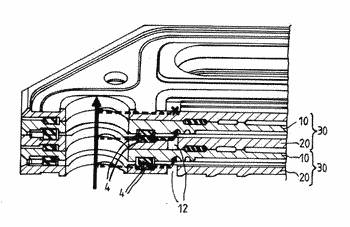 Stack of cells of a fuel cell and fuel cell comprising such a stack