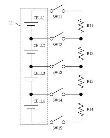 Battery cell balancing circuit using single inductor