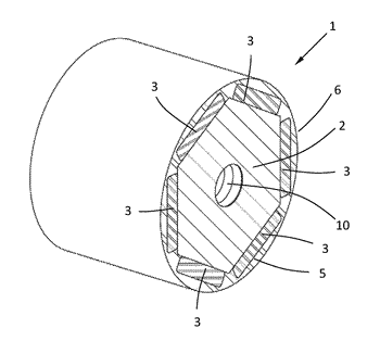 Permanent magnet rotor with distributed permanent magnets