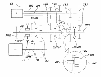 Transmission for hybrid vehicle