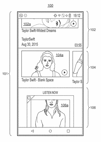 Playback of media content inline within a scrollable mixed multimedia display background