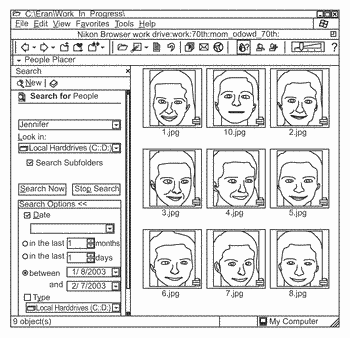 Classification and organization of consumer digital images using workflow, and face detection and recognition