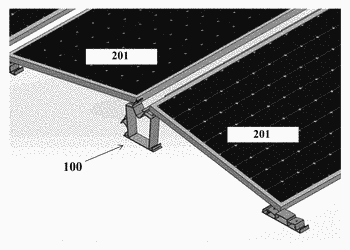 Structure and support member for photovoltaic arrays