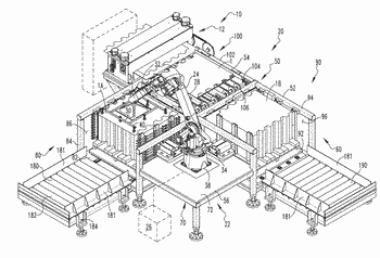 Multiple bay staging assembly for a shell press assembly