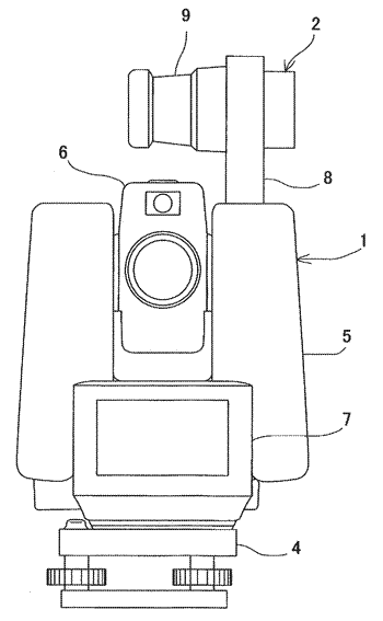 Optical system of laser scanner and surveying instrument
