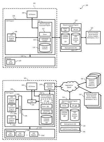 Natural language user interface for computer-aided design systems