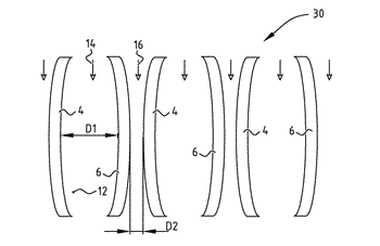 Method for fouling reduction in membrane based fluid-flow processes, and device capable of performing such ...