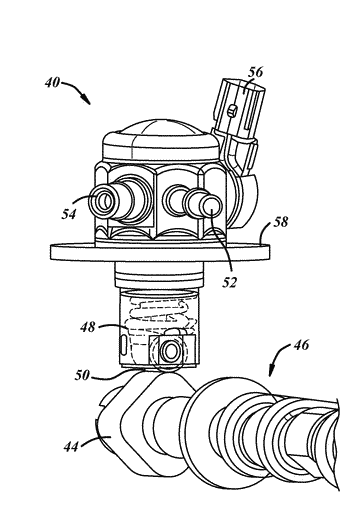 Fuel pump housing with an integrated deflector