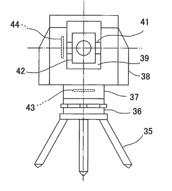 Shaft support structure, laser beam projecting unit and surveying instrument