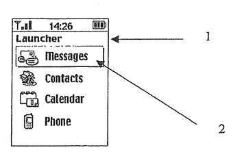 Computing device with improved user interface for applications