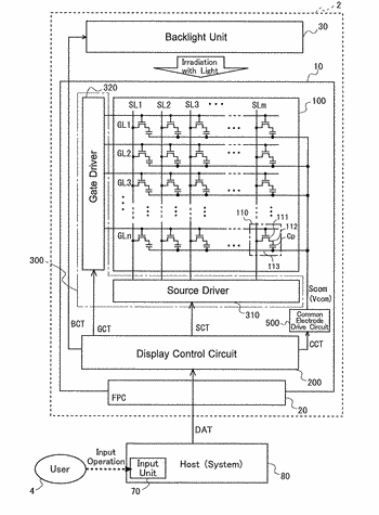 Display device and method for driving same